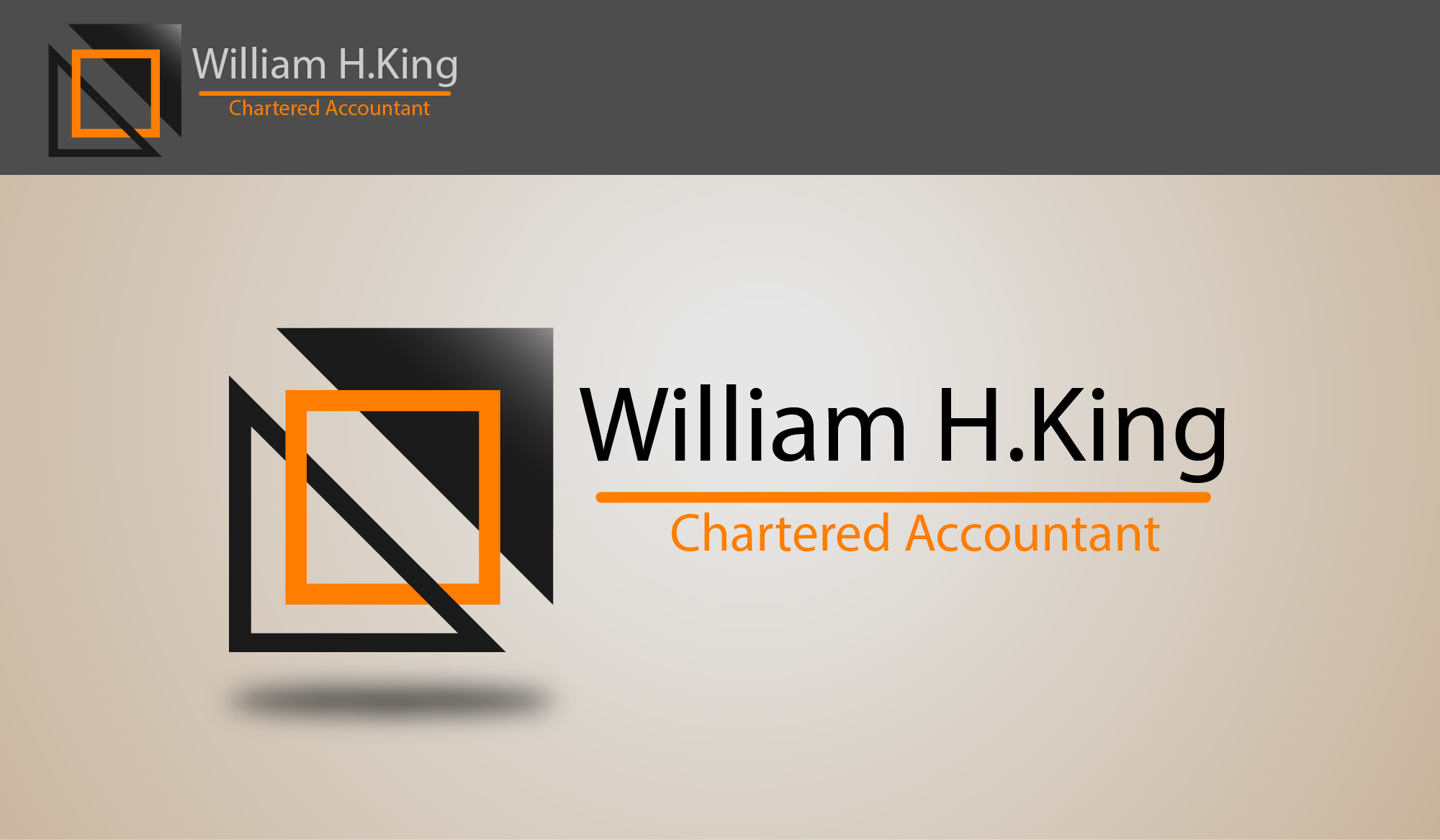 Logo Design by Private User - Entry No. 85 in the Logo Design Contest New Logo Design for William H. King, Chartered Accountant.