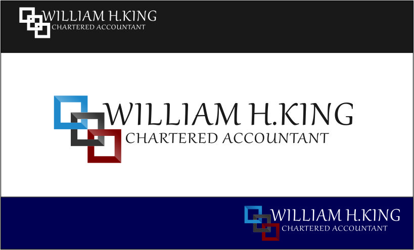 Logo Design by Agus Martoyo - Entry No. 87 in the Logo Design Contest New Logo Design for William H. King, Chartered Accountant.