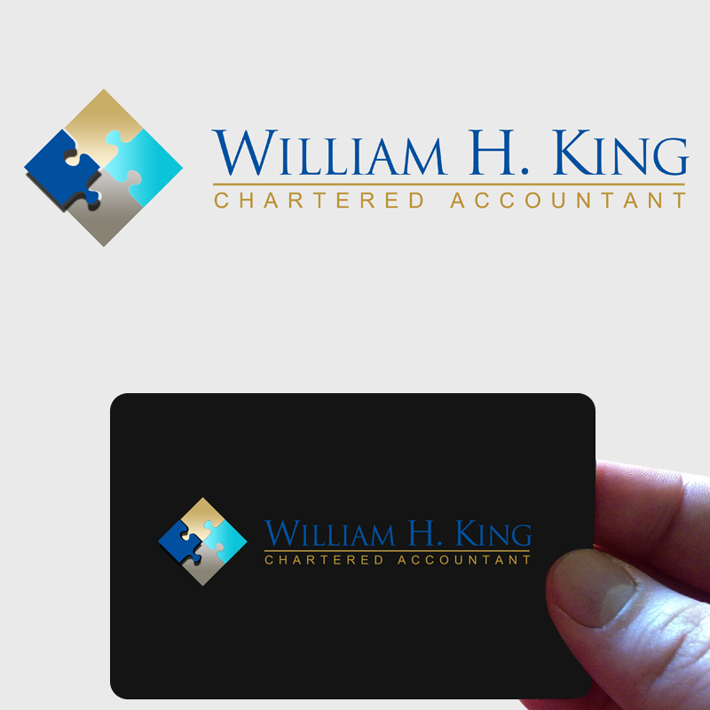 Logo Design by Private User - Entry No. 89 in the Logo Design Contest New Logo Design for William H. King, Chartered Accountant.