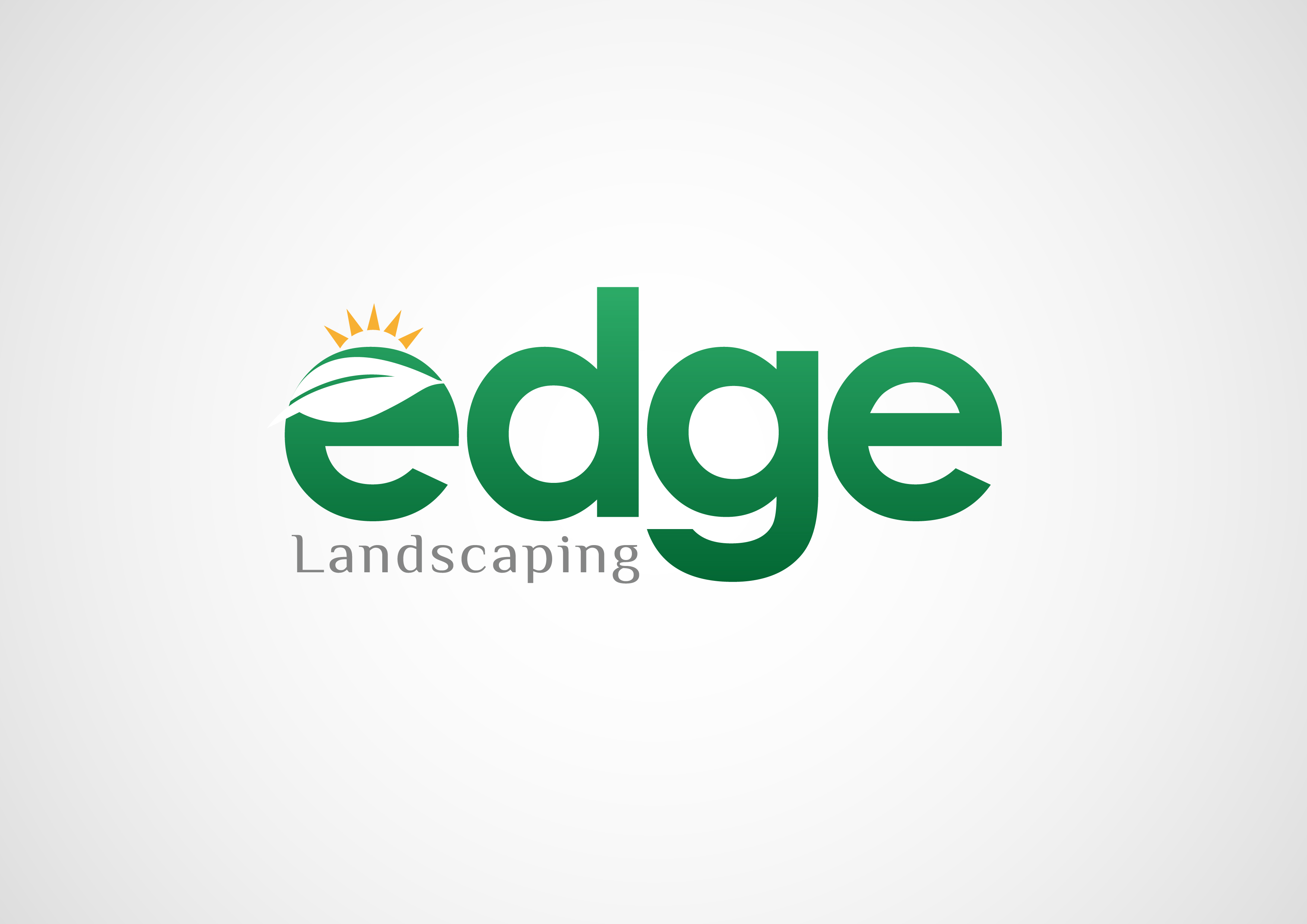 Logo Design by 3draw - Entry No. 186 in the Logo Design Contest Inspiring Logo Design for Edge Landscaping.