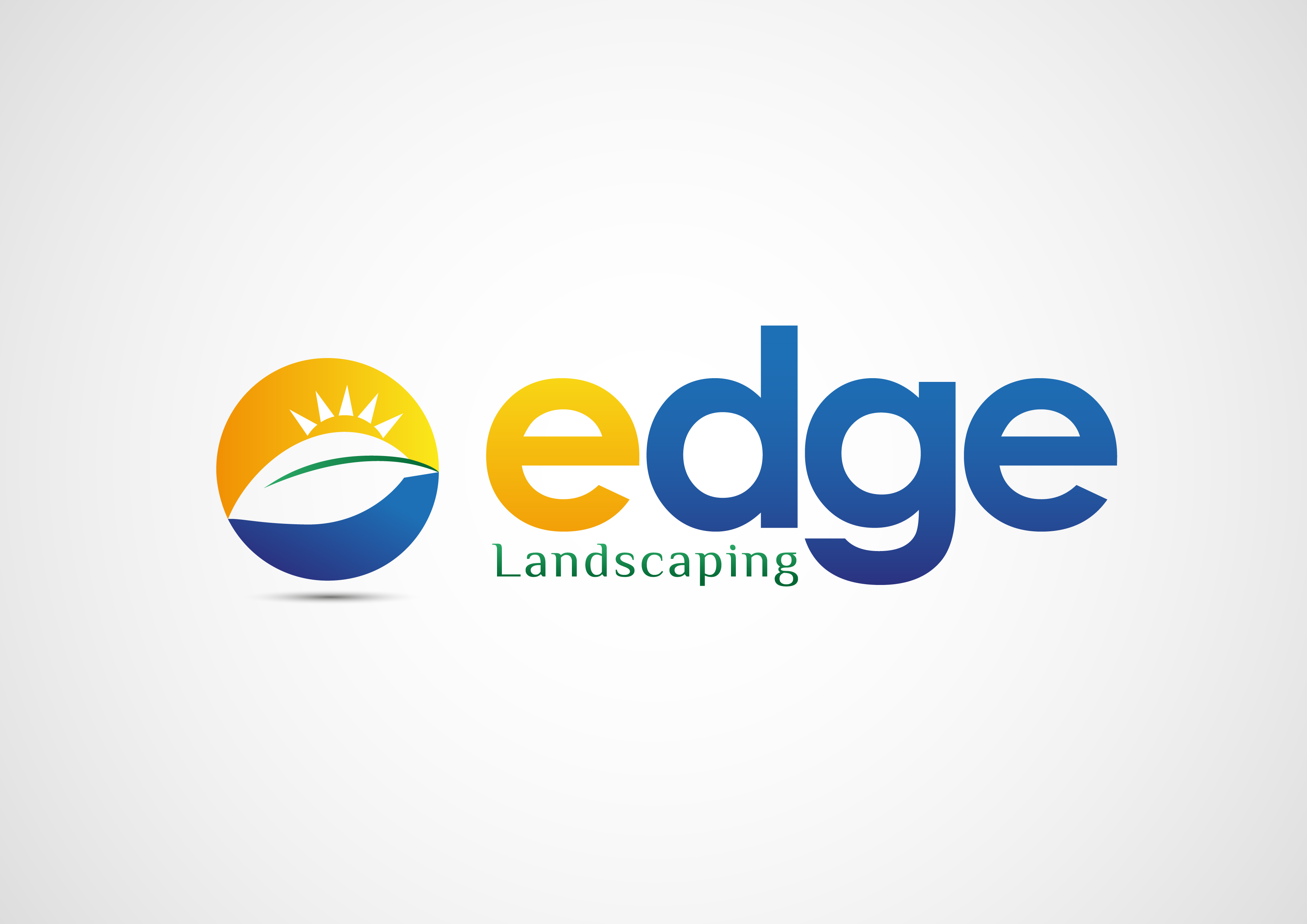 Logo Design by 3draw - Entry No. 187 in the Logo Design Contest Inspiring Logo Design for Edge Landscaping.