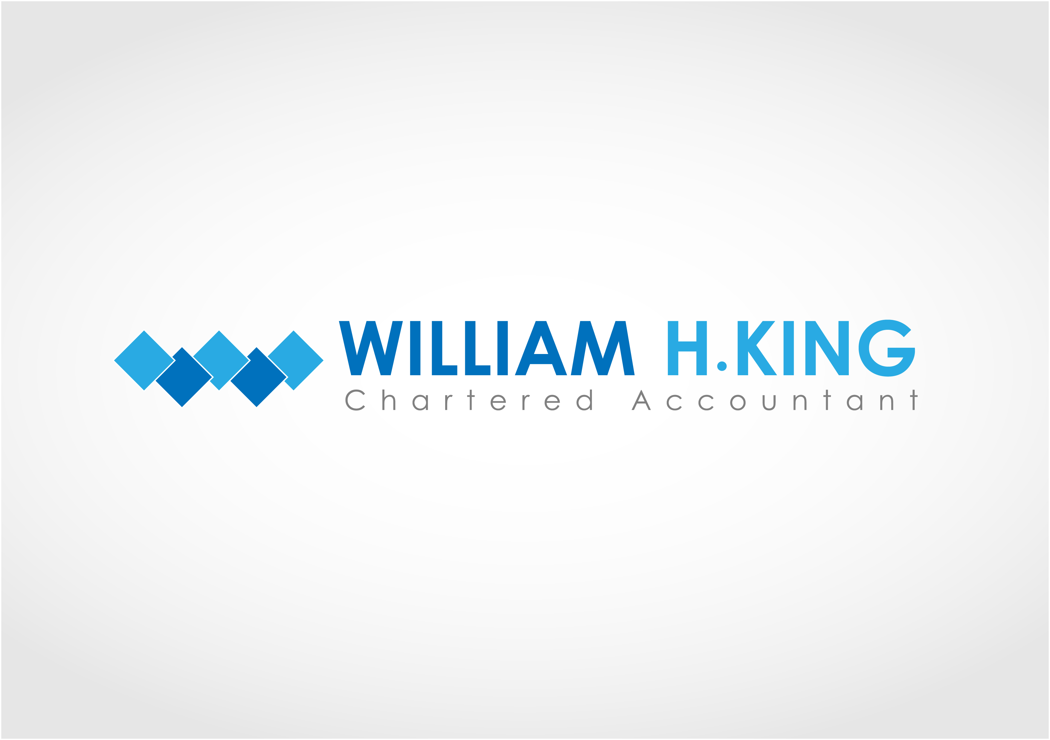 Logo Design by 3draw - Entry No. 95 in the Logo Design Contest New Logo Design for William H. King, Chartered Accountant.
