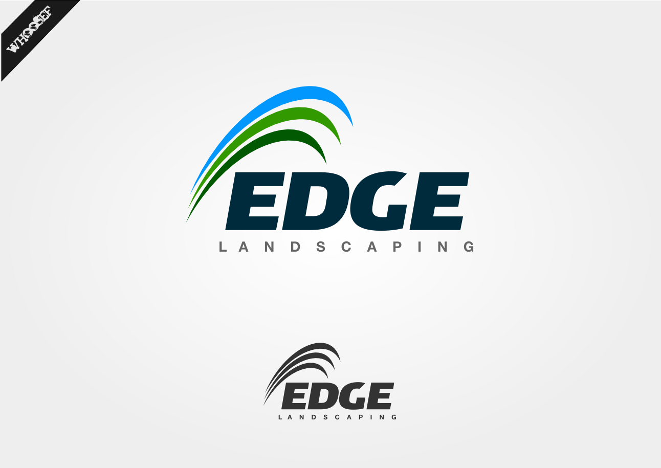Logo Design by whoosef - Entry No. 191 in the Logo Design Contest Inspiring Logo Design for Edge Landscaping.