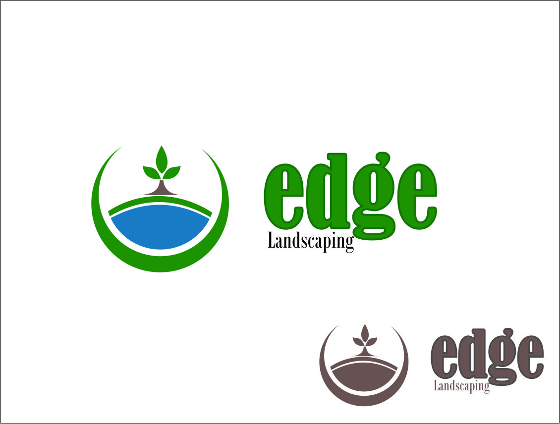 Logo Design by Agus Martoyo - Entry No. 197 in the Logo Design Contest Inspiring Logo Design for Edge Landscaping.