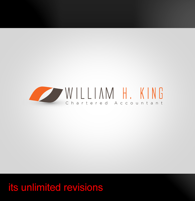 Logo Design by ahmed_nofal - Entry No. 98 in the Logo Design Contest New Logo Design for William H. King, Chartered Accountant.
