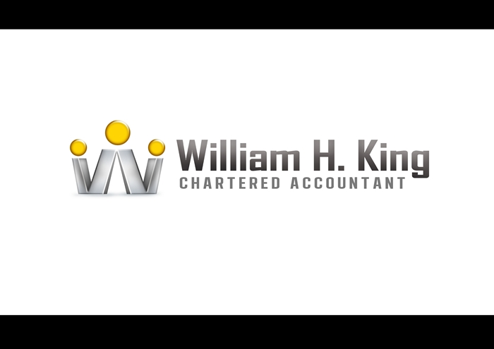 Logo Design by Respati Himawan - Entry No. 99 in the Logo Design Contest New Logo Design for William H. King, Chartered Accountant.