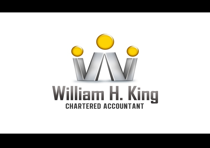 Logo Design by Respati Himawan - Entry No. 100 in the Logo Design Contest New Logo Design for William H. King, Chartered Accountant.