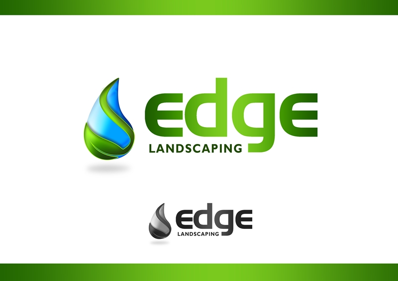 Logo Design by Respati Himawan - Entry No. 200 in the Logo Design Contest Inspiring Logo Design for Edge Landscaping.