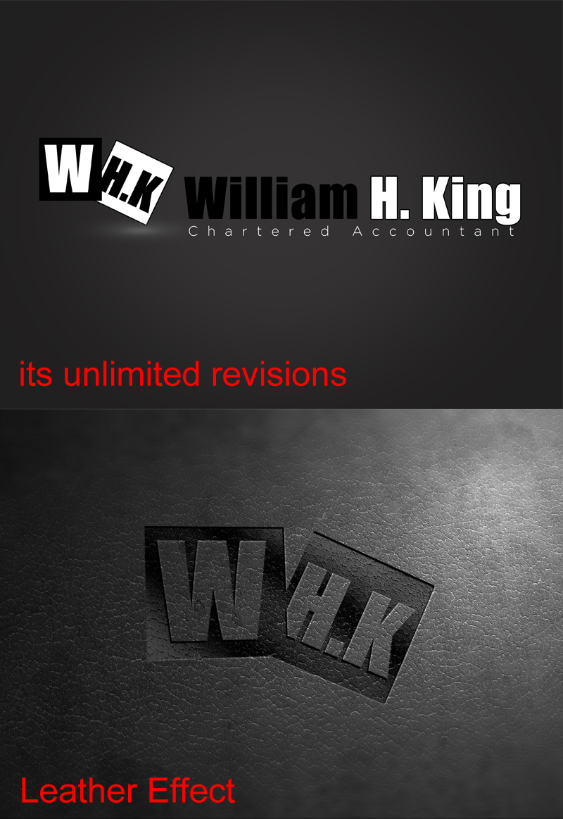 Logo Design by ahmed_nofal - Entry No. 101 in the Logo Design Contest New Logo Design for William H. King, Chartered Accountant.