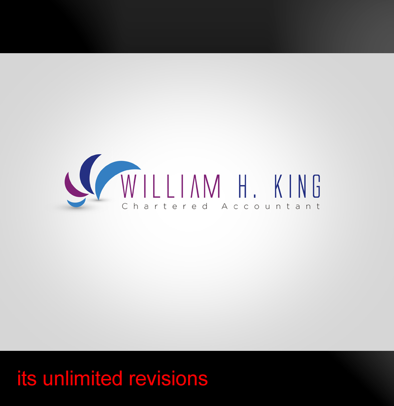 Logo Design by ahmed_nofal - Entry No. 102 in the Logo Design Contest New Logo Design for William H. King, Chartered Accountant.