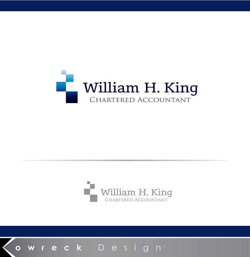 Logo Design by kowreck - Entry No. 103 in the Logo Design Contest New Logo Design for William H. King, Chartered Accountant.