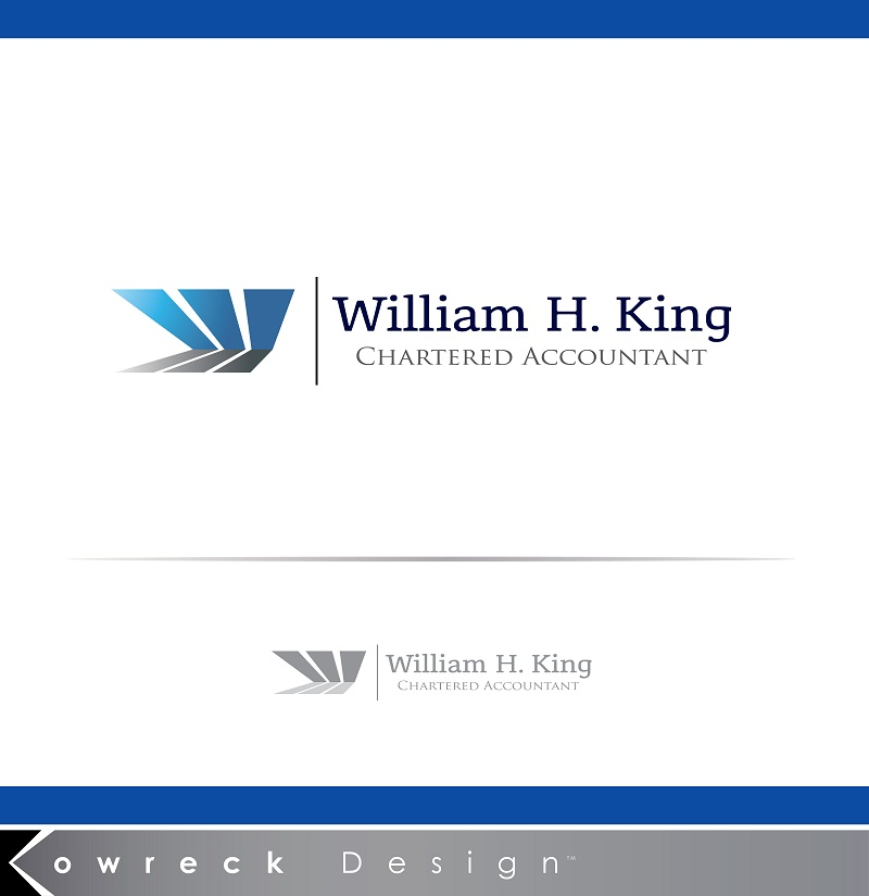 Logo Design by kowreck - Entry No. 104 in the Logo Design Contest New Logo Design for William H. King, Chartered Accountant.