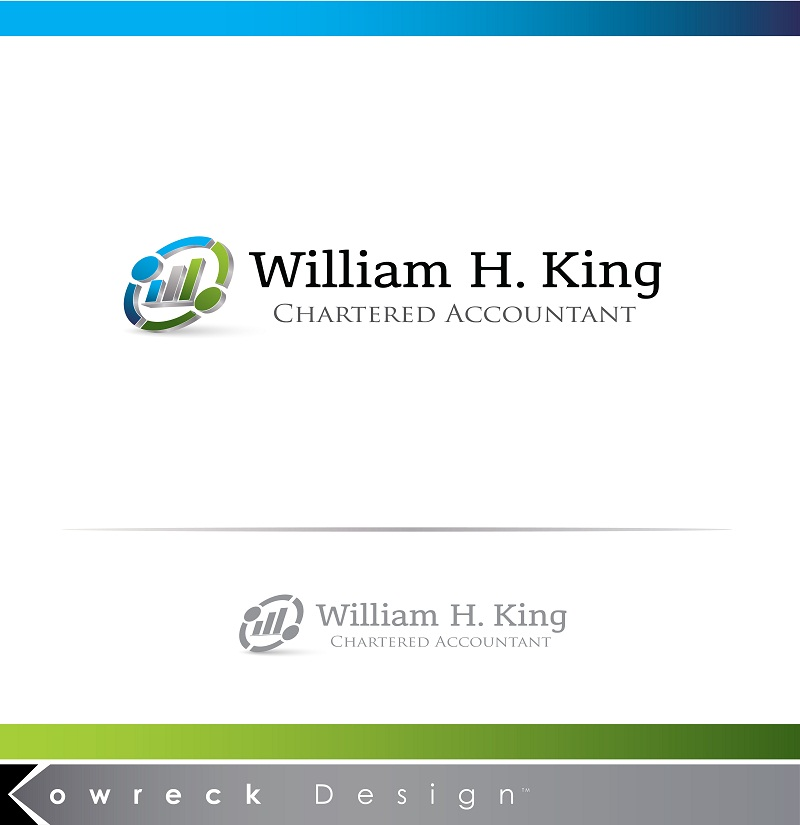 Logo Design by kowreck - Entry No. 105 in the Logo Design Contest New Logo Design for William H. King, Chartered Accountant.