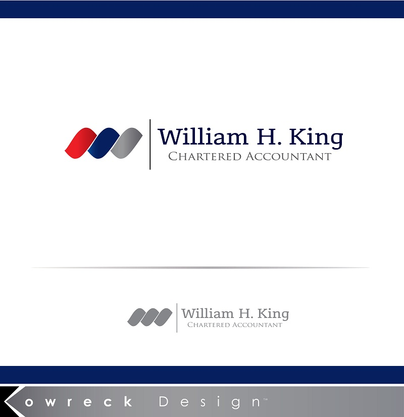 Logo Design by kowreck - Entry No. 106 in the Logo Design Contest New Logo Design for William H. King, Chartered Accountant.