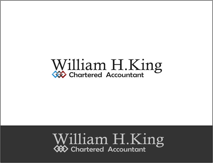 Logo Design by Agus Martoyo - Entry No. 108 in the Logo Design Contest New Logo Design for William H. King, Chartered Accountant.