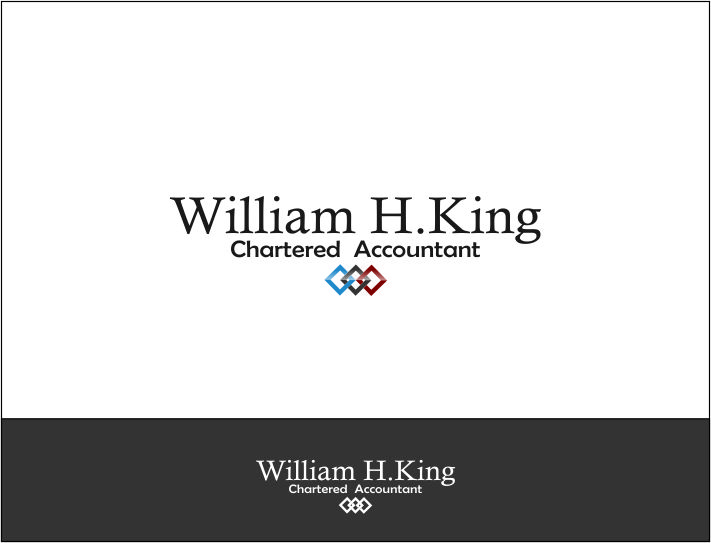 Logo Design by Agus Martoyo - Entry No. 109 in the Logo Design Contest New Logo Design for William H. King, Chartered Accountant.