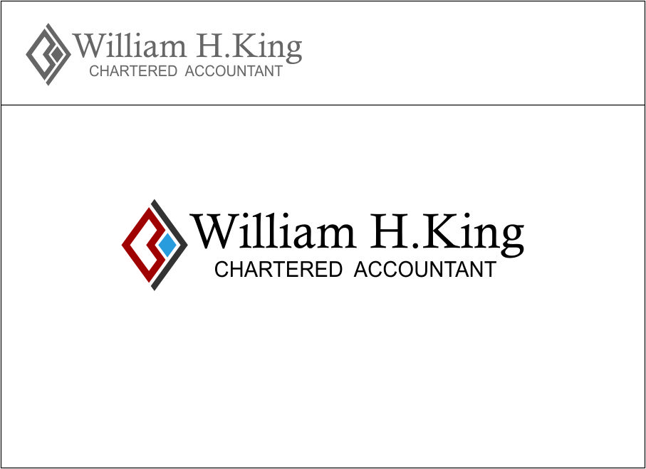 Logo Design by Agus Martoyo - Entry No. 110 in the Logo Design Contest New Logo Design for William H. King, Chartered Accountant.