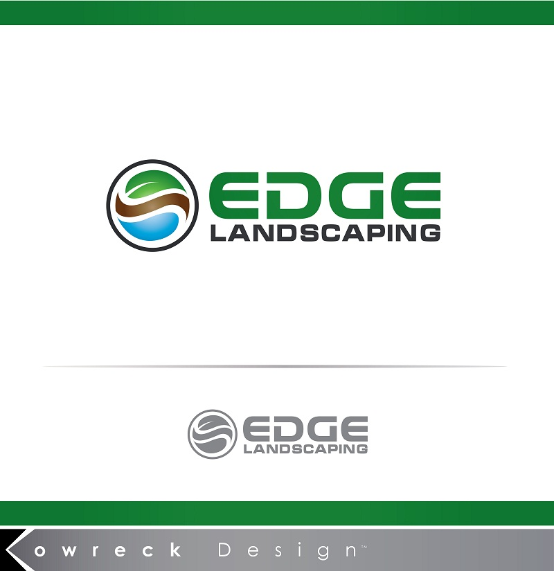 Logo Design by kowreck - Entry No. 219 in the Logo Design Contest Inspiring Logo Design for Edge Landscaping.