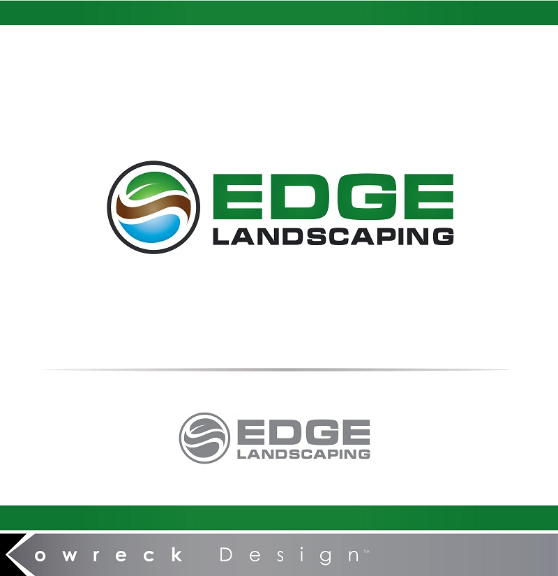 Logo Design by kowreck - Entry No. 220 in the Logo Design Contest Inspiring Logo Design for Edge Landscaping.