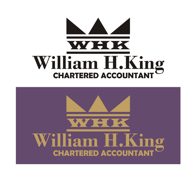 Logo Design by Korsunov Oleg - Entry No. 112 in the Logo Design Contest New Logo Design for William H. King, Chartered Accountant.