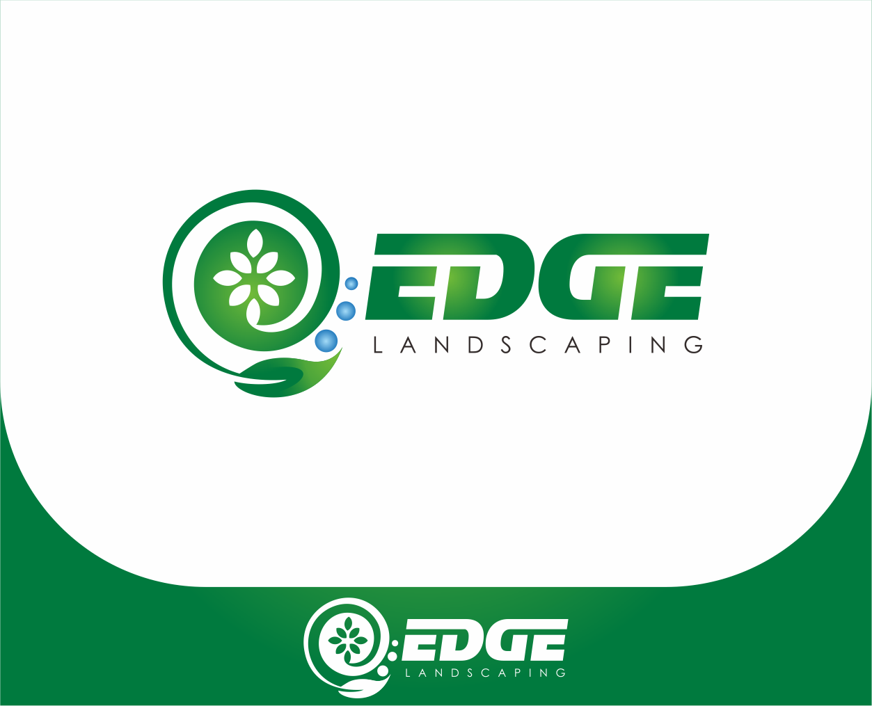 Logo Design by Armada Jamaluddin - Entry No. 221 in the Logo Design Contest Inspiring Logo Design for Edge Landscaping.