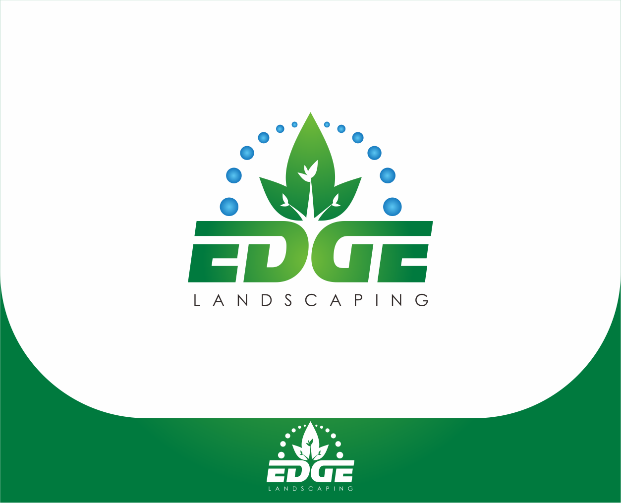 Logo Design by Armada Jamaluddin - Entry No. 222 in the Logo Design Contest Inspiring Logo Design for Edge Landscaping.