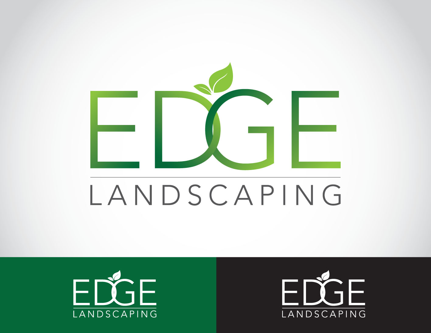 Logo Design by Private User - Entry No. 223 in the Logo Design Contest Inspiring Logo Design for Edge Landscaping.