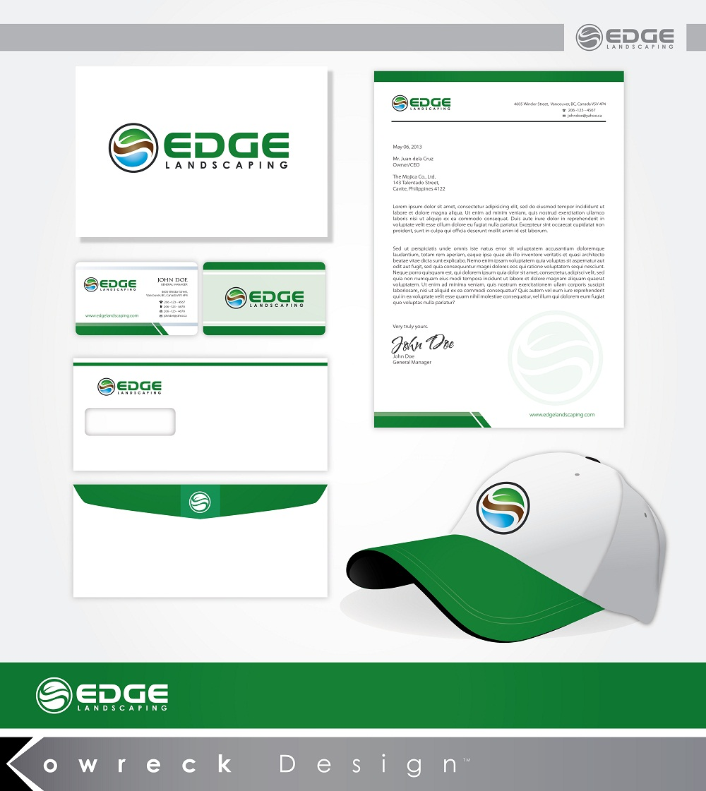 Logo Design by kowreck - Entry No. 225 in the Logo Design Contest Inspiring Logo Design for Edge Landscaping.