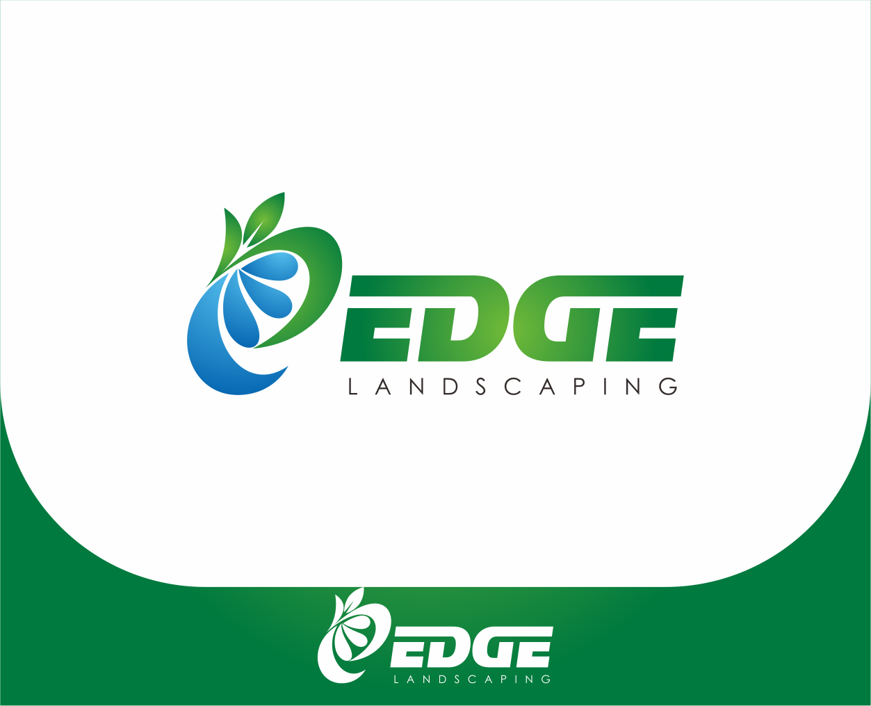 Logo Design by Armada Jamaluddin - Entry No. 226 in the Logo Design Contest Inspiring Logo Design for Edge Landscaping.
