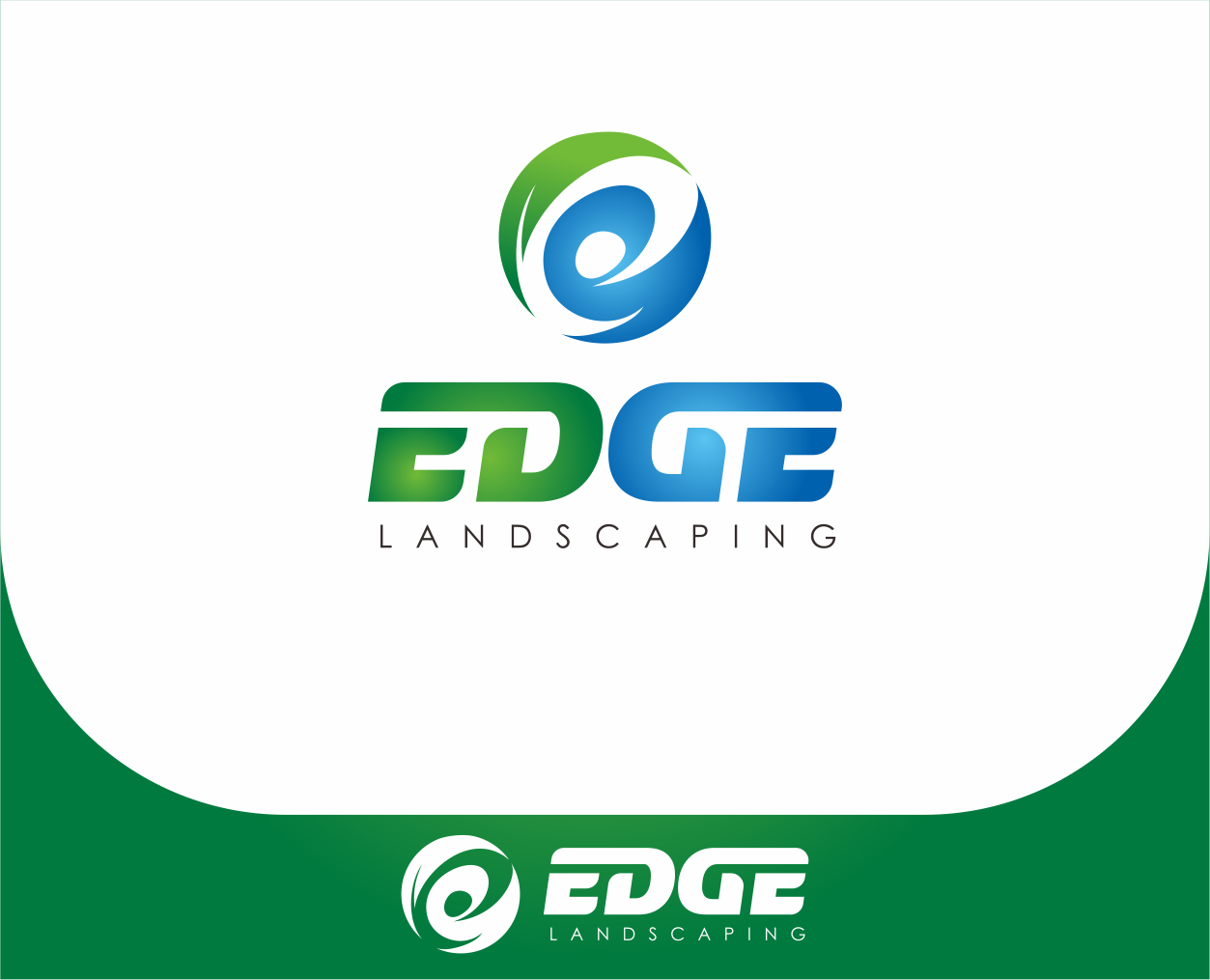 Logo Design by Armada Jamaluddin - Entry No. 229 in the Logo Design Contest Inspiring Logo Design for Edge Landscaping.