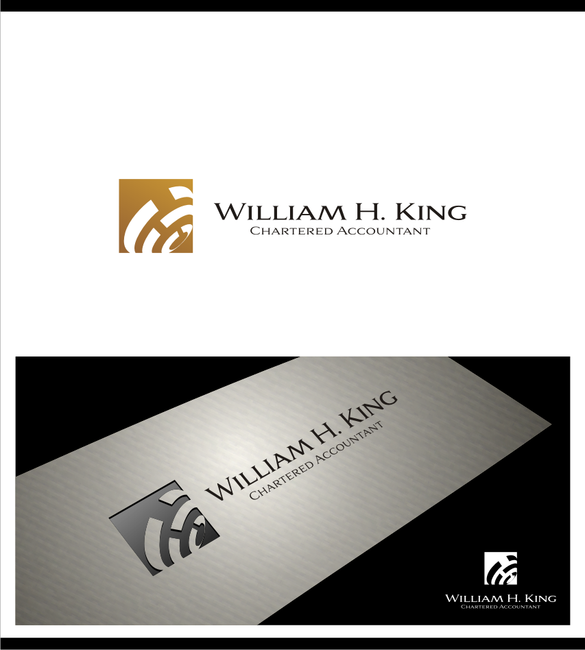 Logo Design by graphicleaf - Entry No. 114 in the Logo Design Contest New Logo Design for William H. King, Chartered Accountant.