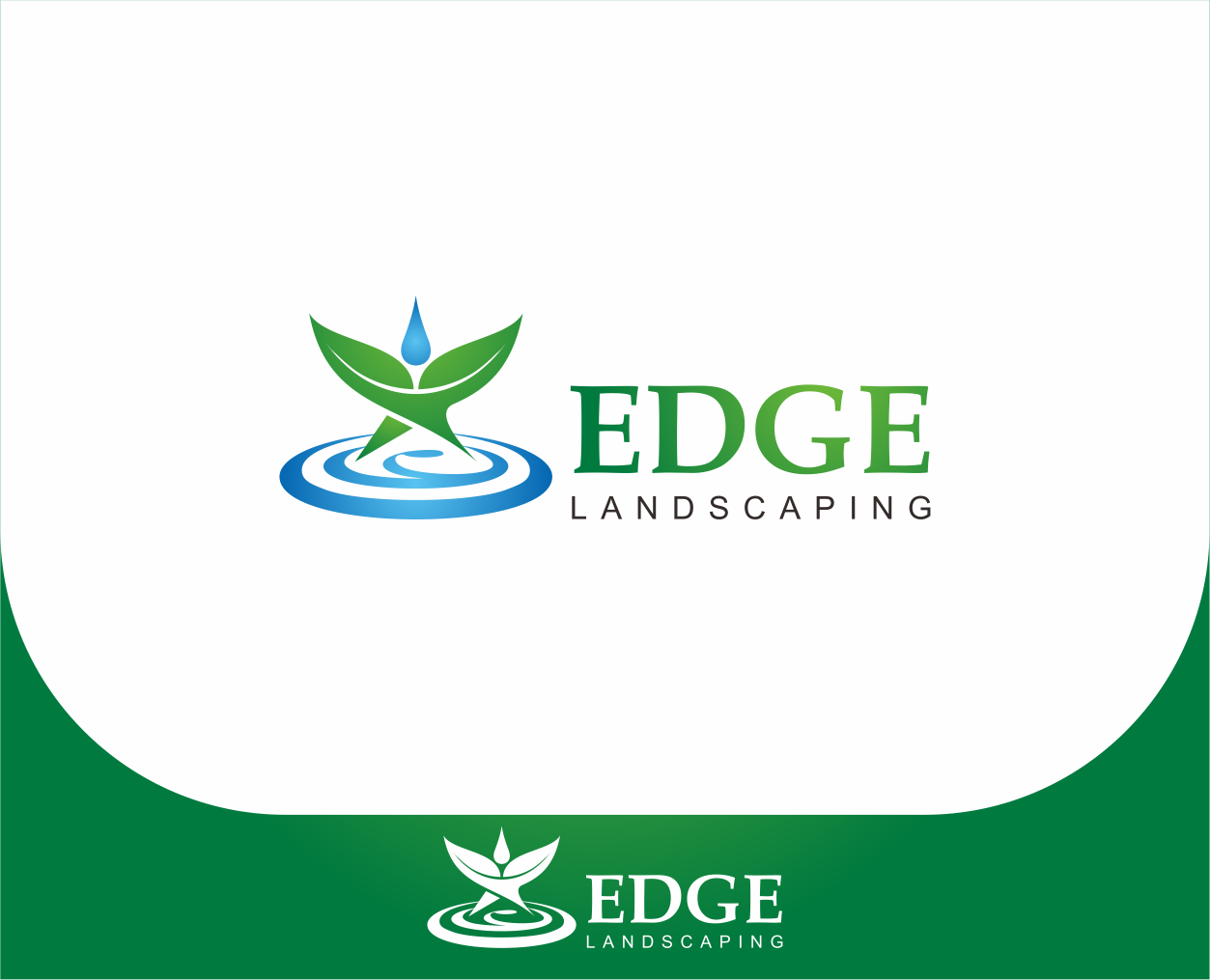 Logo Design by Armada Jamaluddin - Entry No. 230 in the Logo Design Contest Inspiring Logo Design for Edge Landscaping.