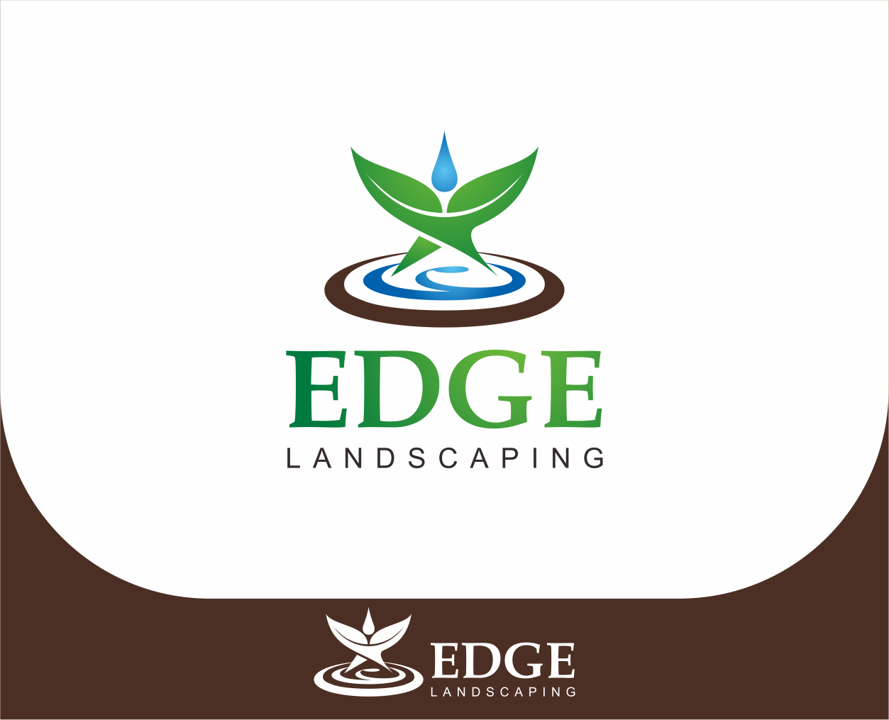 Logo Design by Armada Jamaluddin - Entry No. 232 in the Logo Design Contest Inspiring Logo Design for Edge Landscaping.