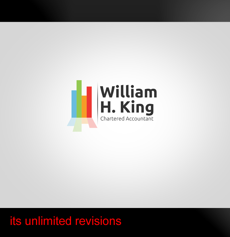 Logo Design by ahmed_nofal - Entry No. 116 in the Logo Design Contest New Logo Design for William H. King, Chartered Accountant.