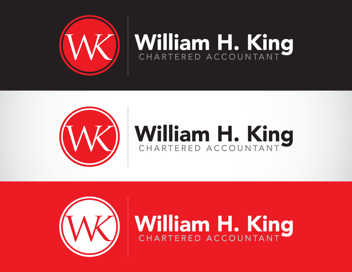 Logo Design by Private User - Entry No. 117 in the Logo Design Contest New Logo Design for William H. King, Chartered Accountant.
