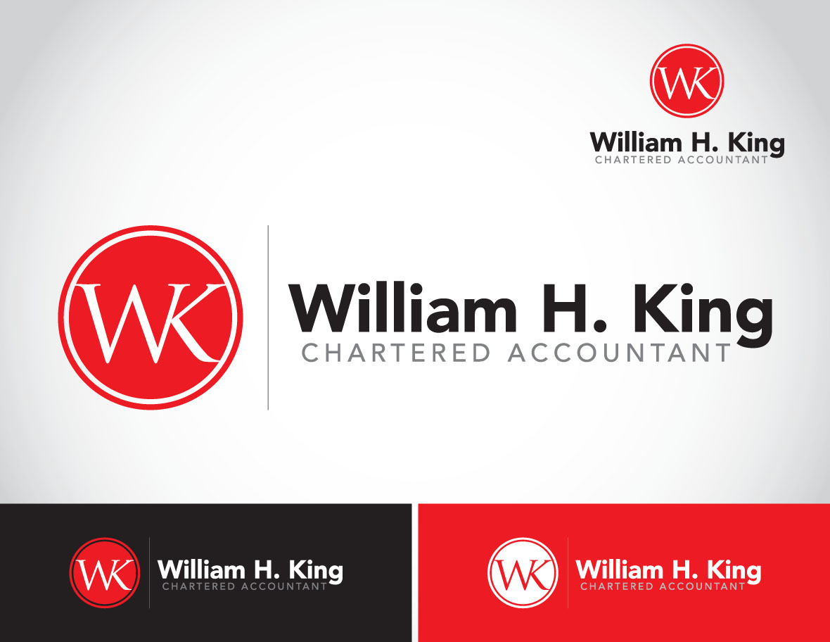 Logo Design by Private User - Entry No. 118 in the Logo Design Contest New Logo Design for William H. King, Chartered Accountant.