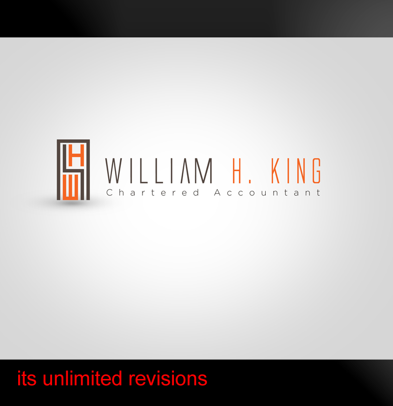 Logo Design by ahmed_nofal - Entry No. 119 in the Logo Design Contest New Logo Design for William H. King, Chartered Accountant.