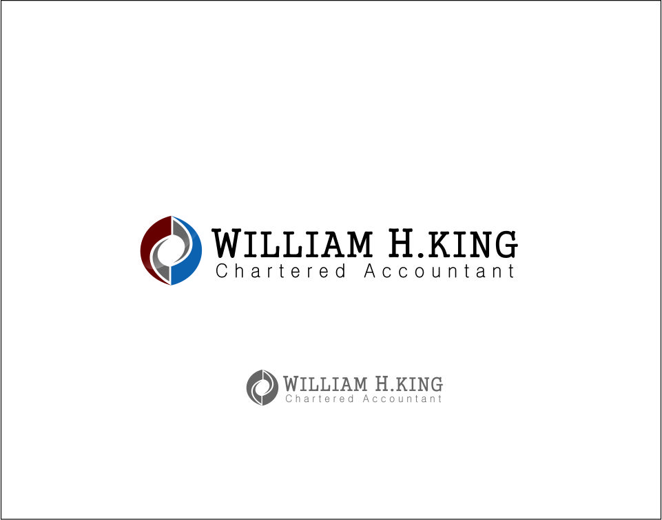 Logo Design by Agus Martoyo - Entry No. 120 in the Logo Design Contest New Logo Design for William H. King, Chartered Accountant.