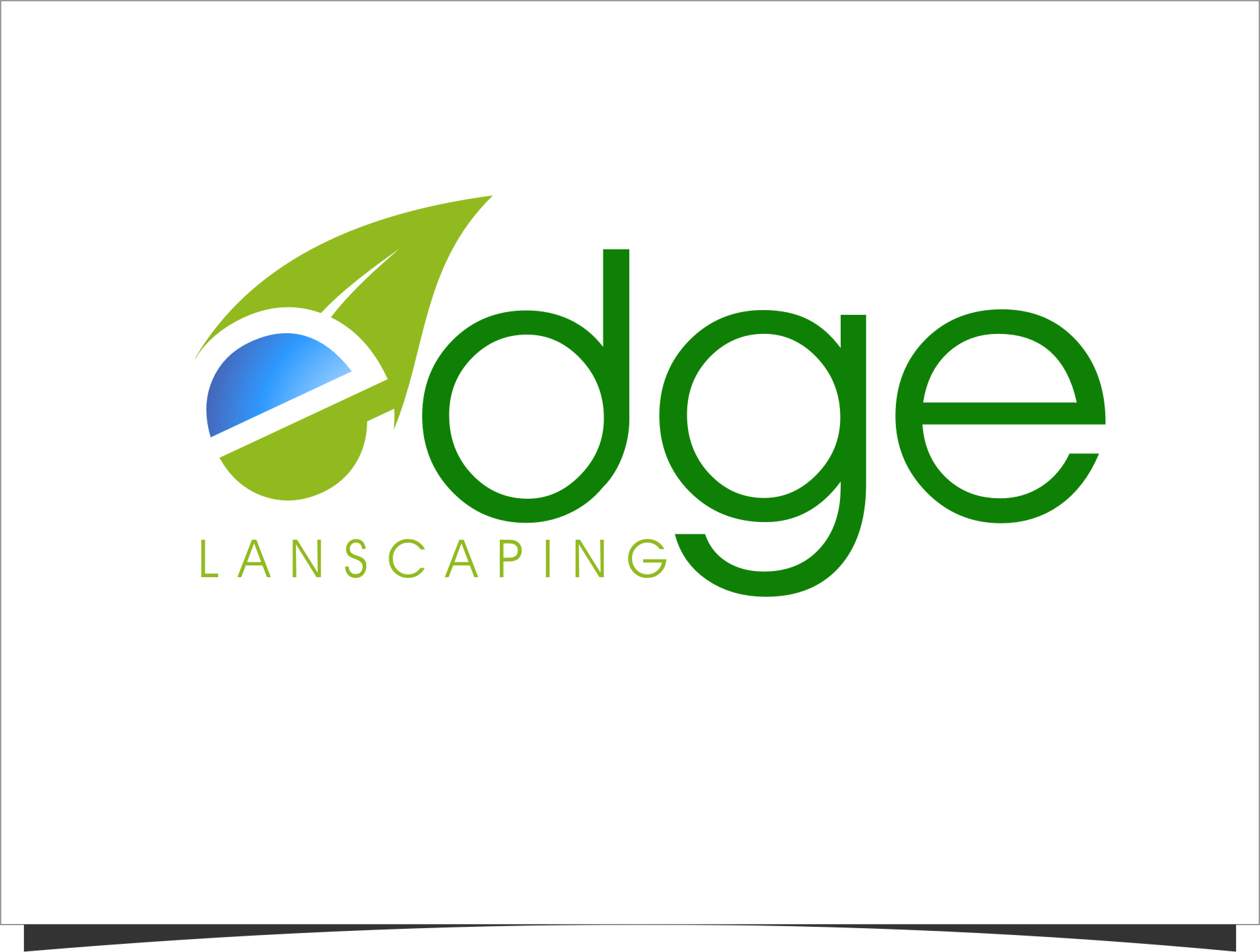 Logo Design by RasYa Muhammad Athaya - Entry No. 233 in the Logo Design Contest Inspiring Logo Design for Edge Landscaping.