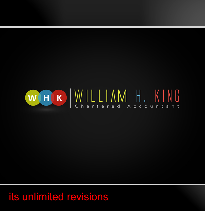 Logo Design by ahmed_nofal - Entry No. 121 in the Logo Design Contest New Logo Design for William H. King, Chartered Accountant.