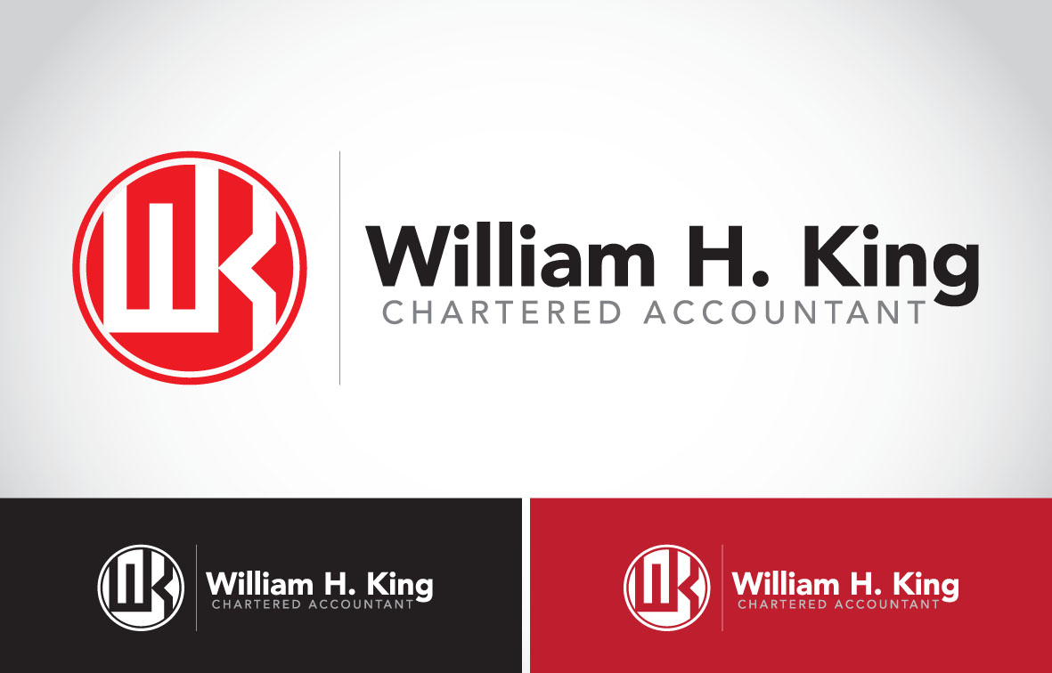 Logo Design by Private User - Entry No. 122 in the Logo Design Contest New Logo Design for William H. King, Chartered Accountant.