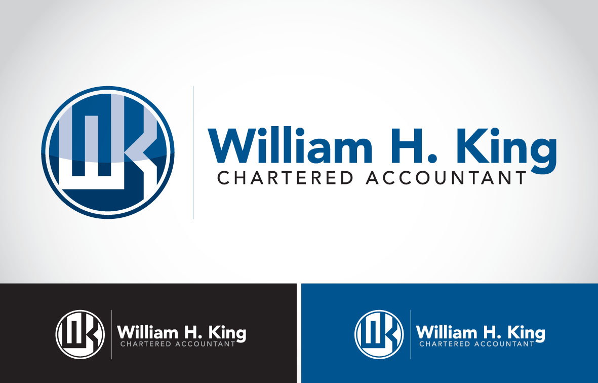 Logo Design by Private User - Entry No. 123 in the Logo Design Contest New Logo Design for William H. King, Chartered Accountant.