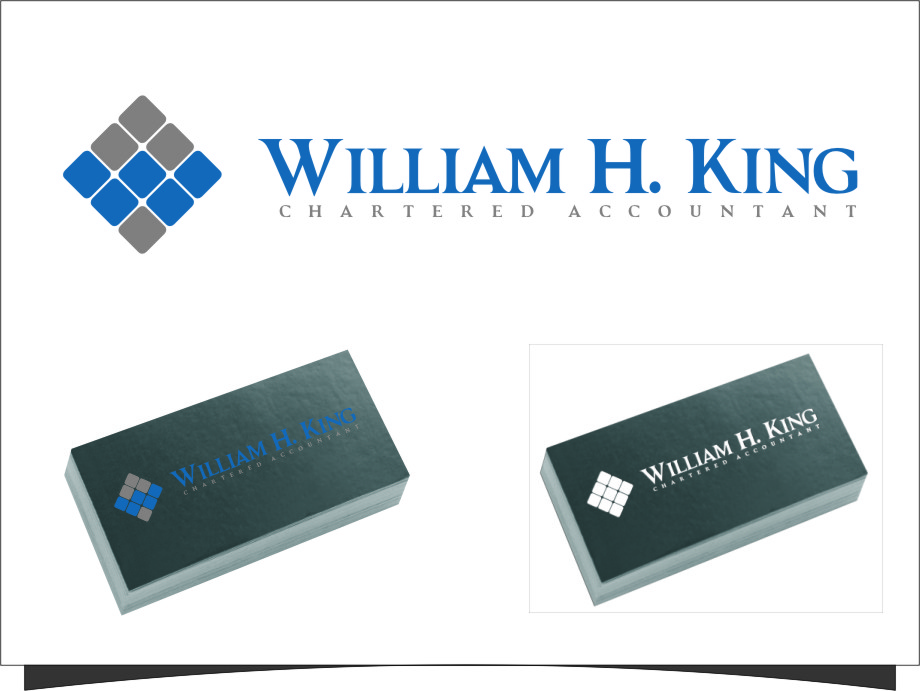 Logo Design by RasYa Muhammad Athaya - Entry No. 126 in the Logo Design Contest New Logo Design for William H. King, Chartered Accountant.