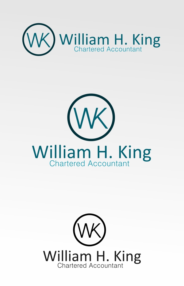 Logo Design by Private User - Entry No. 128 in the Logo Design Contest New Logo Design for William H. King, Chartered Accountant.