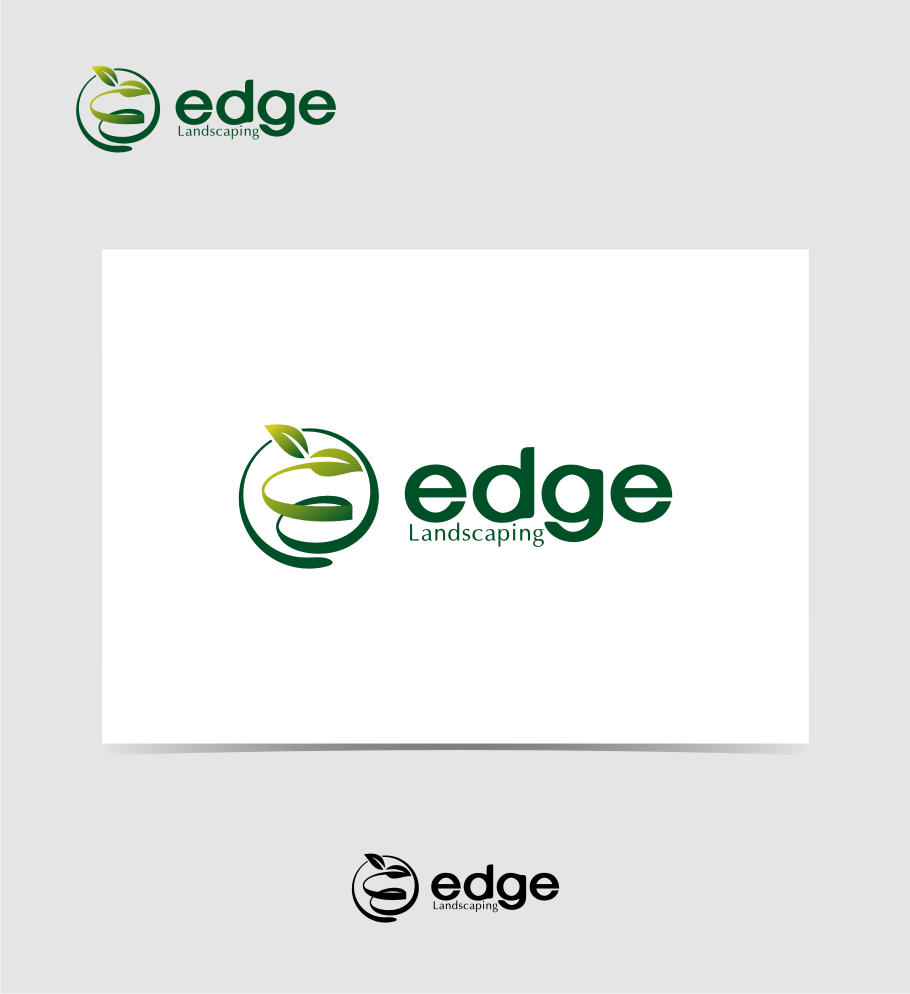 Logo Design by graphicleaf - Entry No. 240 in the Logo Design Contest Inspiring Logo Design for Edge Landscaping.