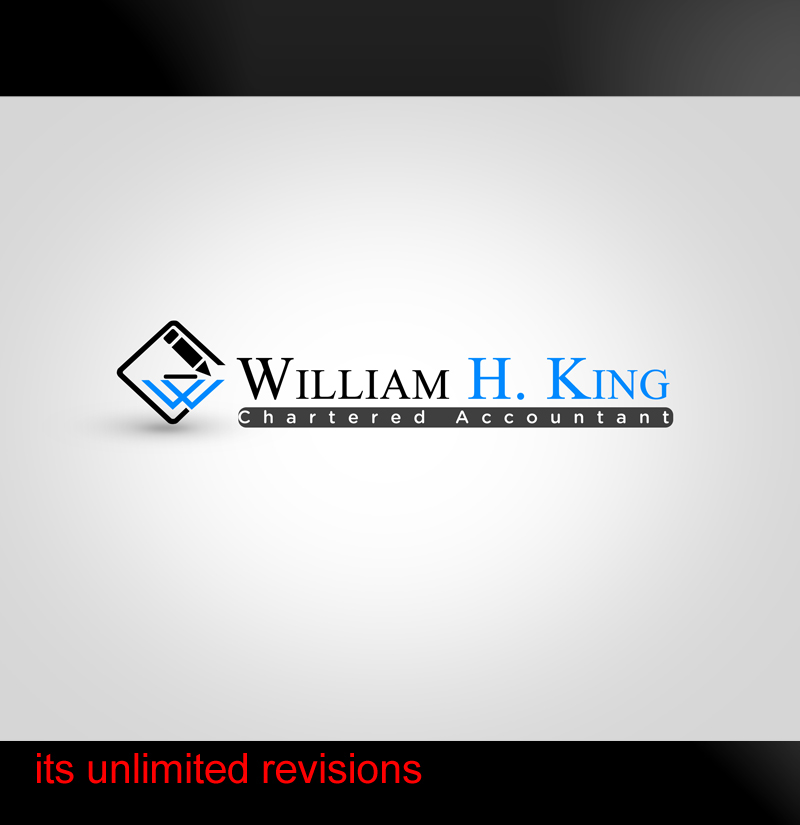 Logo Design by ahmed_nofal - Entry No. 133 in the Logo Design Contest New Logo Design for William H. King, Chartered Accountant.