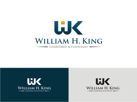 Logo Design by key - Entry No. 134 in the Logo Design Contest New Logo Design for William H. King, Chartered Accountant.