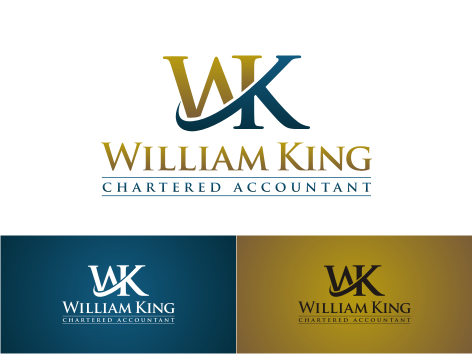 Logo Design by key - Entry No. 135 in the Logo Design Contest New Logo Design for William H. King, Chartered Accountant.
