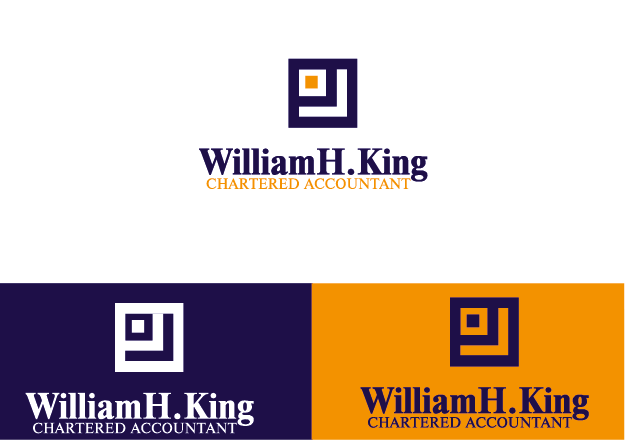 Logo Design by Private User - Entry No. 136 in the Logo Design Contest New Logo Design for William H. King, Chartered Accountant.