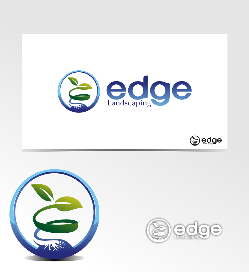 Logo Design by graphicleaf - Entry No. 255 in the Logo Design Contest Inspiring Logo Design for Edge Landscaping.
